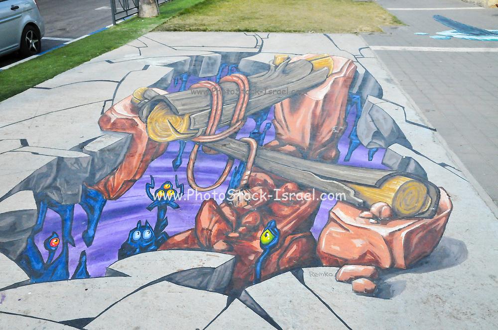 3D Street art festival at Afula, Israel