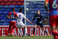Kamil Miazek of Leeds United U23 in action during the U23 Professional Development League match between U23 Crystal Palace and Leeds United at Selhurst Park, London, England on 15 April 2019.