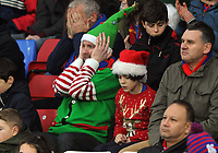 Football - 2016 / 2017 Premier League - Crystal Palace vs. Chelsea<br /> <br /> Festive Palace fans can't watch as another shot goes wide at Selhurst Park.<br /> <br /> COLORSPORT/ANDREW COWIE