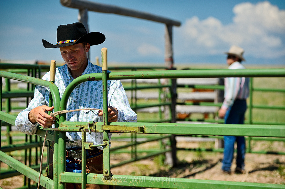 Kit Haddock's annual roundup and branding in Ellicott, Colorado USA.