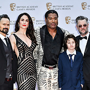 Jeremy Davies, Danielle Bisutti, Christopher Judge, Sunny Suljic and Cory Barlog Arrivers at the British Academy (BAFTA) Games Awards at Queen Elizabeth Hall, Southbank Centre  on 4 March 2019, London, UK.