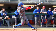 CARY, NC - MARCH 04: UMass Lowell's Steve Passatempo hits a home run. The University of Massachusetts Lowell River Hawks played the University of Notre Dame Fighting Irish on March 4, 2017, at USA Baseball NTC Stadium Field in Cary, NC in a Division I College Baseball game, and part of the Irish Classic tournament. UMass Lowell won the game 8-0.