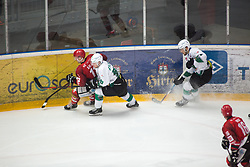 Luka KALAN vs Mark CEPON during First league between HDD Acroni Jesenice vs HK SZ Olimpia, on April 23, 2019 in Jesenice, Slovenia. Photo by Peter Podobnik / Sportida