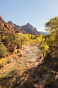 The Watchmen, Zion National Park, on the Pa'rus Trail, Utah, United States of America