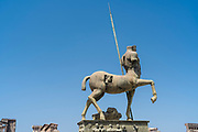 horse Centaur sculpture at the Forum in Pompeii Italy