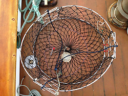 Crab Pot on SV Maple Leaf, Gulf Islands, British Columbia, Canada