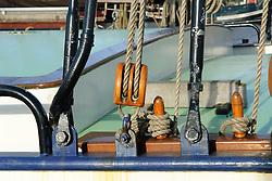 Classic Dutch sailingvessel, oud Nederlands zeilschip
