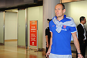 BEIJING, CHINA - JUNE 08: (CHINA OUT) <br /> <br /> Dutch national football team player Arjen Robben arrives at Beijing Capital International Airport on June 8, 2013 in Beijing, China. ©Exclusivepix