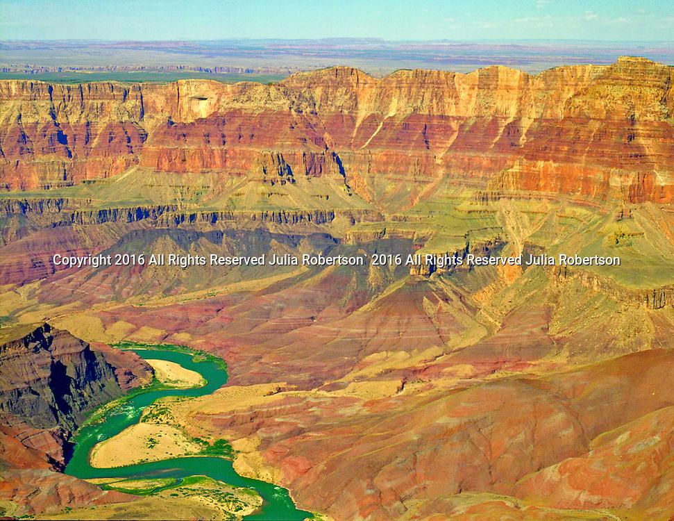 Aerial photograph of the Grand Canyon & the Colorado River