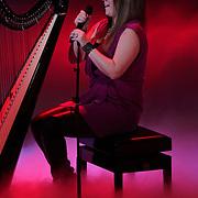 NLD/Hilversum/20120120 - Finale the Voice of Holland 2012, optreden Iris Kroes met harp