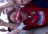 Photo: Ian Hebden.<br />Northampton Town v Chester City. Coca Cola League 2. 29/04/2006.<br />Northampton Town supporters celebrate promotion.