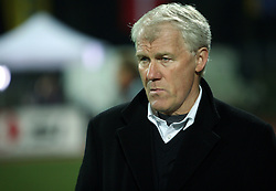 The coach of Denmark, Morten Olsen, during the UEFA Friendly match between national teams of Slovenia and Denmark at the Stadium on February 6, 2008 in Nova Gorica, Slovenia. Slovenia lost 2:1. (Photo by Vid Ponikvar / Sportal Images).