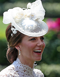 Kate, the Duchess of Cambridge, during day one of Royal Ascot at Ascot Racecourse.