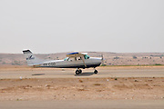Israel, Negev, Be'er Sheva Airport, also known as the Sde Teyman Airstrip mainly used as a recreational airfield. Cessna 172 Skyhawk at takeoff