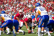 Stanford University Cardinals' Andrew Luck (12) scans San Jose State's defense in Palo Alto, Calif., Sept. 3, 2011.  Stanford (7) beat San Jose State, 57-3.  (Spartan Daily/Stan Olszewski)