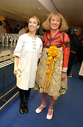 Left to right, SAM TAYLOR-WOOD and Artist GRAYSON PERRY at an exhibition of leading artist Ellsworth Kelly at the Serpentine Gallery, Kensington Gardens, London followed by a dinner at the Riverside Cafe, London on 17th March 2006.<br /><br />NON EXCLUSIVE - WORLD RIGHTS