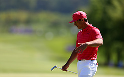 Denmark's Thorbjorn Olesen during day one of the Golf Sixes tournament at the Centurion Club, St Albans.
