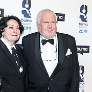 NLD/Hilversum/20190311  - Uitreiking Buma Awards 2019, Jan Smeets en partner
