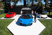 August 14-16, 2012 - Pebble Beach / Monterey Car Week. Lamborghini Aventador SV unveiled by CEO Stephan Winkelmann