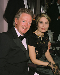 COUNT MAXIMILIAN VON BISMARCK and MISS SARI AKHAVAN, at a ball in London on April 8th 1997.LXM 48