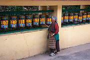 Tibetan Buddhist Prayer wheels at Dalai Lama's temple, Dharamsala, Himachal Pradesh, India