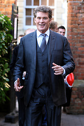 © under license to London News Pictures. 08/02/2011. Actor and Britains got talent star David Hasselhoff visited the Oxford Students Union in Oxford to give a speech to students. Picture Credit should read: London News pictures