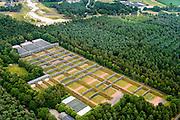Nederland, Noord-Brabant, Gemeente Cranendonck, 26-06-2014; schietbanen op de voormalige Legerplaats Budel. Nasau-Dietz Kazerne.<br /> Shooting ranges at the former army barracks<br /> luchtfoto (toeslag op standaard tarieven);<br /> aerial photo (additional fee required);<br /> copyright foto/photo Siebe Swart.