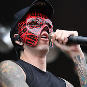 Deuce performs during their performance at the Rockstar Energy Drink Uproar festival at the 1-800-Ask-Gary amphitheater in Tampa, Florida on Thursday, September 13, 2012. (AP Photo/Alex Menendez)