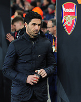 Football - 2019 / 2020 UEFA Europa League - Round of Thirty-Two, Second Leg: Arsenal (1) vs. Olympiakos (0)<br /> <br /> Arsenal Manager, Mikel Arteta, at the Emirates Stadium.<br /> <br /> COLORSPORT/ANDREW COWIE