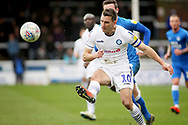 Wycombe midfielder Matthew Bloomfield (10) knocks the ball on during the EFL Sky Bet League 1 match between Peterborough United and Wycombe Wanderers at London Road, Peterborough, England on 2 March 2019.