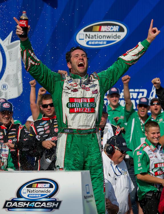 Joliet,Il - JUL 21, 2012: Elliot Sadler (2) wins the STP 300 at Chicagoland Speedway in Joliet, Il.