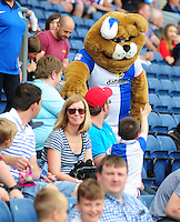 Blackburn Rovers mascot Rover meets fans in the new family section of Ewood Park<br /> <br /> Photographer Chris Vaughan/CameraSport<br /> <br /> Football - The EFL Sky Bet Championship - Blackburn Rovers v Norwich City - Saturday 6th August 2016 - Ewood Park - Blackburn<br /> <br /> World Copyright © 2016 CameraSport. All rights reserved. 43 Linden Ave. Countesthorpe. Leicester. England. LE8 5PG - Tel: +44 (0) 116 277 4147 - admin@camerasport.com - www.camerasport.com