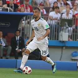July 1, 2018 - Moscow, Russia - July 01, 2018, Russia, Moscow, FIFA World Cup 2018, the playoff round. Football match Spain - Russia at the stadium Luzhniki. Player of the national team Alexander Samedov. (Credit Image: © Russian Look via ZUMA Wire)