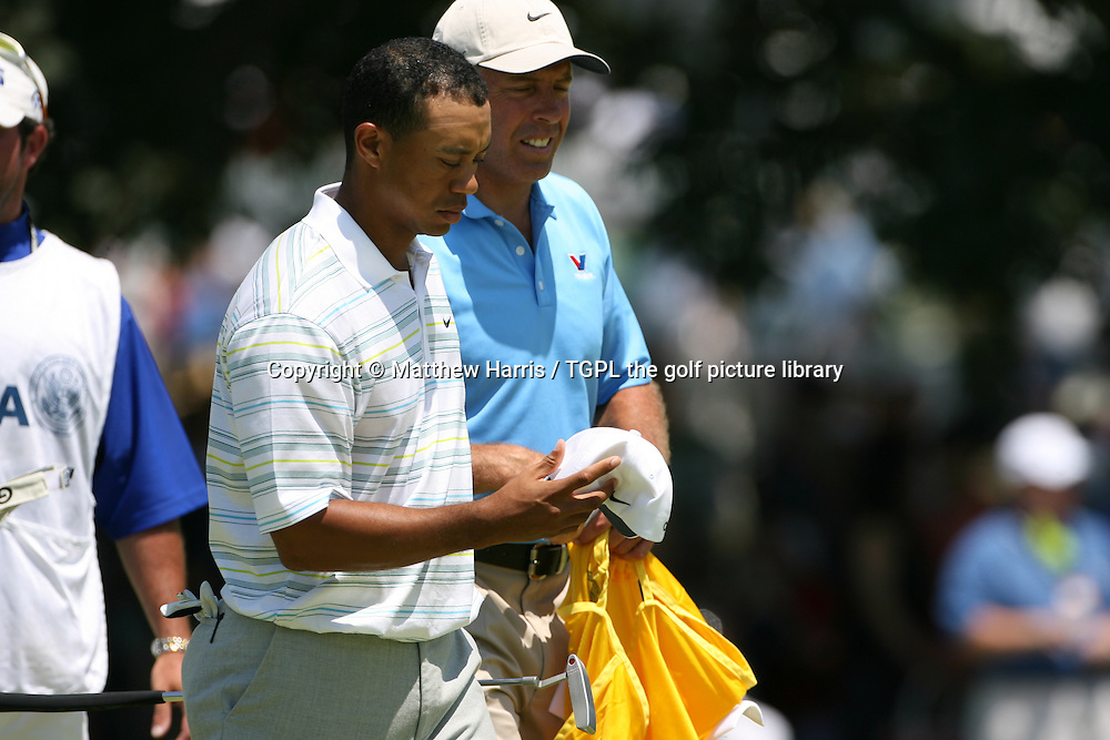 Tiger WOODS (USA) on his way to missing the cut for the first time as a pro;loosing his father and mentor Earl only shortly before certainly had a bearing on this happening,during second round US Open 2006,Winged Foot,New York,USA.