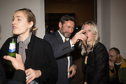 "POLLY MORGAN; MAT COLLISHAW; GUEST DJ: HARRIET VERNEY, The launch of Rachel Howard's ""Humble Hanger"" -  a limited edition jewellery collaboration with True Rocks.. BlainSouthern, Hanover Sq. London. 18 November 2015"