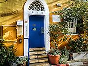 Israel, Tel Aviv, Neve Tzedek, Agnon House. Residence of Nobel prize laureate writer Shmuel Yosef Agnon at 2 Rokah street
