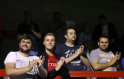 Charlton Athletic fans in the stands show their support