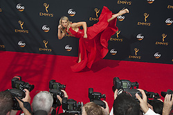 September 18, 2016 - Los Angeles, California, U.S. - ''American Ninja Warrior'' contestant and stuntwoman JESSIE GRAFF arrives for the 68th Annual Primetime Emmy Awards, held at the Nokia Theatre. (Credit Image: © Kevin Sullivan via ZUMA Wire)