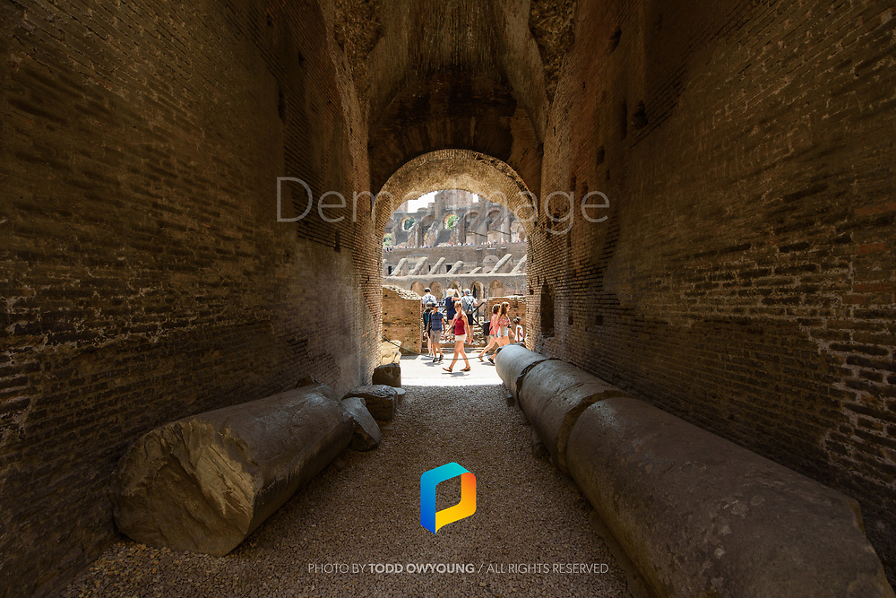 A view in the Colosseum in Rome, Italy