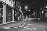 Wardour Street London Soho  district during the<br />  Pandemic of Coronavirus April 23.  2020.<br /> Copyright Ki Price