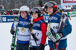 20.01.2018, Hahnenkamm, Kitzbühel, AUT, FIS Weltcup Ski Alpin, Kitzbuehel, Kitz Charity Trophy, im Bild v.l.: Gerry Friedle, Helene Berger, Herhard Berger // f.l.: Gerry Friedle Helene Berger Herhard Berger during the Kitz Charity Trophy of the FIS Ski Alpine World Cup at the Hahnenkamm in Kitzbühel, Austria on 2018/01/20. EXPA Pictures © 2018, PhotoCredit: EXPA/ Stefan Adelsberger