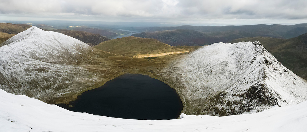 Striding Edge, Red Tarn and Catstye Cam from Helvellyn