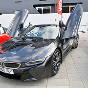Cars display at the Driving holiday experience hosts yacht party at The Sunborn Yacht, Royal Victoria Dock on 31 May 2019, London, UK.