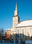 The Tromso Cathedral, built in 1861, is Norway's only wooden build cathedral, Tromso, Norway