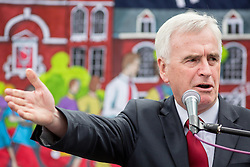 © Licensed to London News Pictures. 05/07/2016. London, UK. Shadow Chancellor JOHN MCDONNELL MP speaks at The National Union of Teachers strike and demonstration Central London. Photo credit : Tom Nicholson/LNP