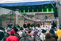 18.12.2016 Bialystok woj podlaskie N/z Wigilia Miejska zorganizowana przez Stowarzyszenie Pomocy Rodzinie Droga i urzad miejski fot Michal Kosc / AGENCJA WSCHOD