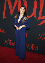 Lana Condor at the World premiere of Disney's 'Mulan' held at the Dolby Theatre in Hollywood, USA on March 9, 2020.