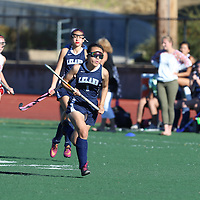 (Photograph by Bill Gerth for SVCN) Leland vs Westmont in a BVAL Girls Field Hockey Game at Westmont High School, Campbell CA on 9/21/16.  (Leland 1 Westmont 0, 7 on 7)