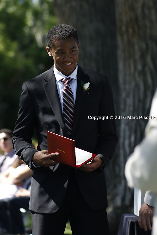 SHOT 6/2/16 9:21:53 AM - Colorado Academy Class of 2016 Commencement ceremonies at the Denver, Co. private school. The school graduated 88 seniors this year and the event capped a week filled with awards, tributes, and celebrations for the outgoing senior class. (Photo by Marc Piscotty / © 2016)