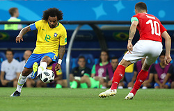 June 17, 2018 - Rostov Do Don, Rússia - ROSTOV DO DON, RO - 17.06.2018: BRAZIL VS SWITZERLAND - Marcelo from Brazil plays the ball with Emil FORSBERG from Switzerland during the match between Brazil and Switzerland valid for the 2018 World Cup held at the Rostov Arena in Rostov-on-Don, Russia. (Credit Image: © Rodolfo Buhrer/Fotoarena via ZUMA Press)